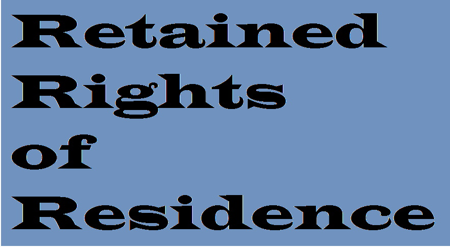 """Brexit: Retained Rights of Residence"" is locked Brexit: Retained Rights of Residence"